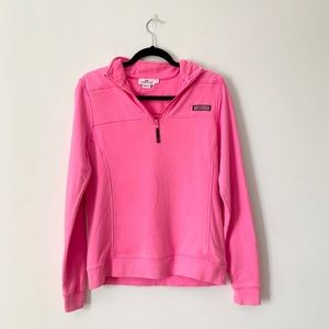 Vineyard Vines Garment-Dyed Relaxed Shep Shirt Pink Pullover Small